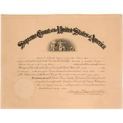 U. S. Supreme Court  Official Appointments Certificate  (110386)