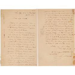 Henri Martin Signed Letter  (106482)