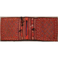 Turkish/Afghan  Double Sided Wool Woven Saddle Bag  (122302)