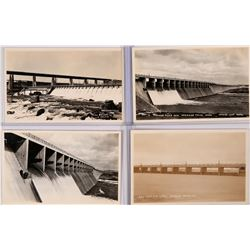 New Dam and Lake, American Falls, ID Real Post Cards  Set of 4 RPC  (119556)