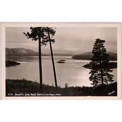 H-37. Beautiful Lake Pend Oreille, from Hope Idaho RPC  (119560)