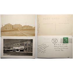 Moscow Idaho Real Photo Postcards, Morrill Hall, and Main Street  (119944)