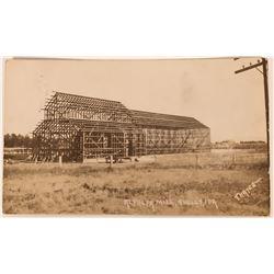 Shelly Idaho, RPC, Alfafa Mill being built, early 1900s  (119960)