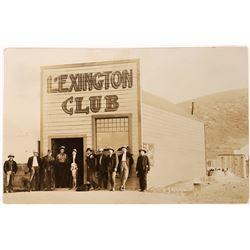 RPC of 11 Men Standing outside the Lexington Club  (123687)
