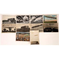 USS Los Angeles Zeppelin Post cards.  (125286)