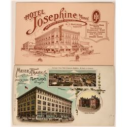 Two Oregon Advertising Postcards  (116110)