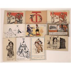 Humorous American Indian Themed Postcards  (125473)