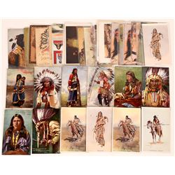 Artist Signed Indian Themed Postcards  (125475)