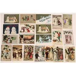 Christmas Snowmen Postcard Collection - 19  (126686)