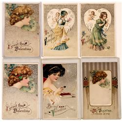 Samuel L. Schmucker Ladies of Valentine's Day Winsch Back Type Art Nouveau Postcard Collection  (126