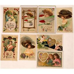 Samuel L. Schmucker Winsch Back Type Art Nouveau Valentine Variety Postcard Collection  (126609)