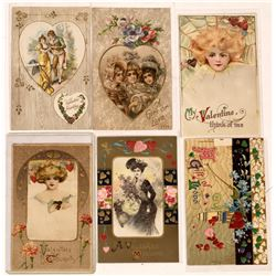Winsch Back Type Unsigned Art Nouveau Misc. Valentine Postcard Collection  (126615)