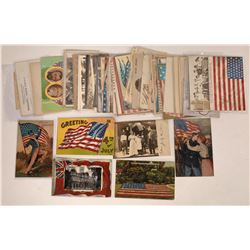 U.S. Flags RPCs and Litho Postcards (50)  (127331)