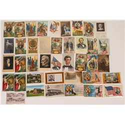 Large Group of Abraham Lincoln Postcards (40)  (118699)