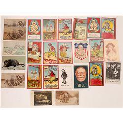 President Taft Humorous Litho Postcards (25)  (127324)