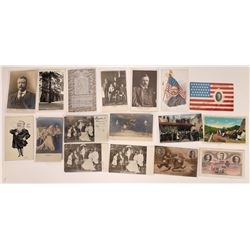 Presidents Teddy and Franklin D. Roosevelt RPCs and Litho Postcards (17)  (127335)
