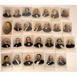U.S. Presidents Series Tuck & Sons' Litho Postcards (27)  (127337)