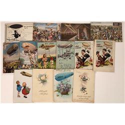 Blimp/ Zeppelin Humor Cards  (125290)