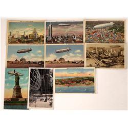 USS Akron zeppelin postcards.  (125282)