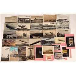 Various Dirigible Post Cards & Stamps  (125280)