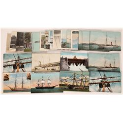 Illustrated Postcards of Ships & Yachts   (126515)