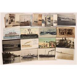 Earlier Century Steamship Postcards  (126531)