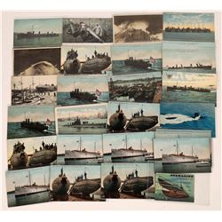Early 20th Century US Warship Postcards  (125478)