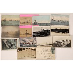 Early US Warship RPC's & Postcards  (126517)