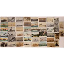 WWII-era US Navy Ship Postcards - 48  (126811)