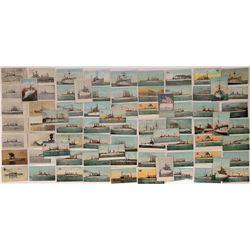 US Navy Cruiser Postcards, 1905-10 ~75  (126812)
