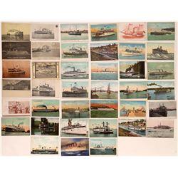 Steamship Postcards ~ 39  (126873)