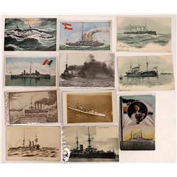 Foreign Battleships Postcards - 10  (126209)