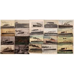 Cunard Lines RMS Lusitania RPC & Card Collection  (126521)