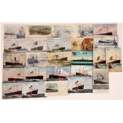 White Star & Red Star Shipping Lines Ad Cards  (126529)