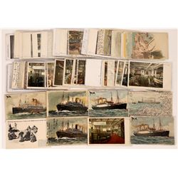"German Luxury Liner ""America"" Postcards  (126516)"