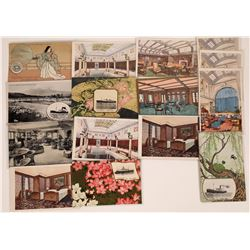 Japanese Liner Asama Maru Postcards  (126514)