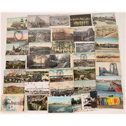 Around the U.S. in Amusement Park Postcards & Ticket  (125273)