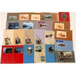"Art ""Pallets & Frames"" Foreign RPC & Litho Postcards (22)  (127308)"