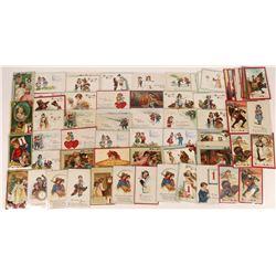 Artist Francis Brundage Print Postcards (65)  (127305)