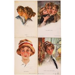 Four Philip Boileau Art Cards, WW I Era  (118678)