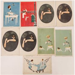 Group of C.Cole Phillips Art Cards (9)  (118664)