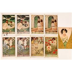 Group of Jessie Willcox Smith Art Cards (8)  (118669)