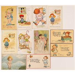 Eleven Art Cards Signed by G.G. Drayton  (118681)