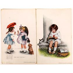 Two Art Cards By M. Grimbald Circa 1908  (118683)