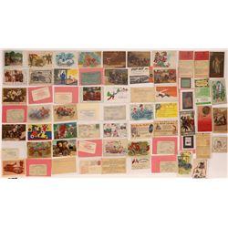 Automobile Postcards and Ephemera ~64 pcs  (126197)