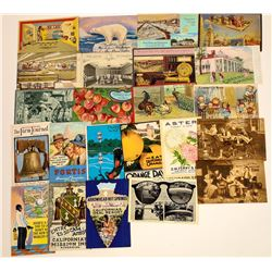 Colorful Advertising Postcards  (125828)