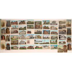Masonic Temple RPCs and Litho Postcards (55)  (125735)