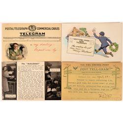 Four Telegram Related Postcards  (111583)