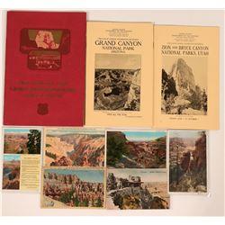 National Parks, Utah & Arizona Publications & Postcards  (9 pieces!)  (120031)