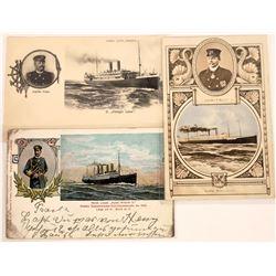 Three German Ship's Kapitan Postcards  (126525)